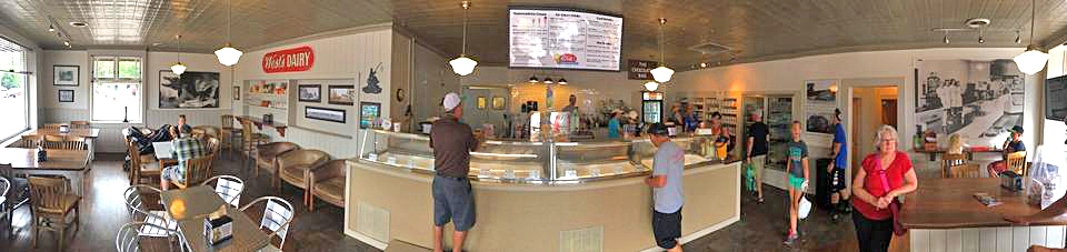 West's Hayward Dairy interior panoramic